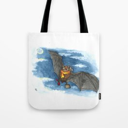 Little Worlds: Travel Bat Tote Bag