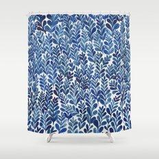 Indigo blues Shower Curtain