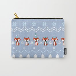 Fox Christmas Sweater Pattern Carry-All Pouch