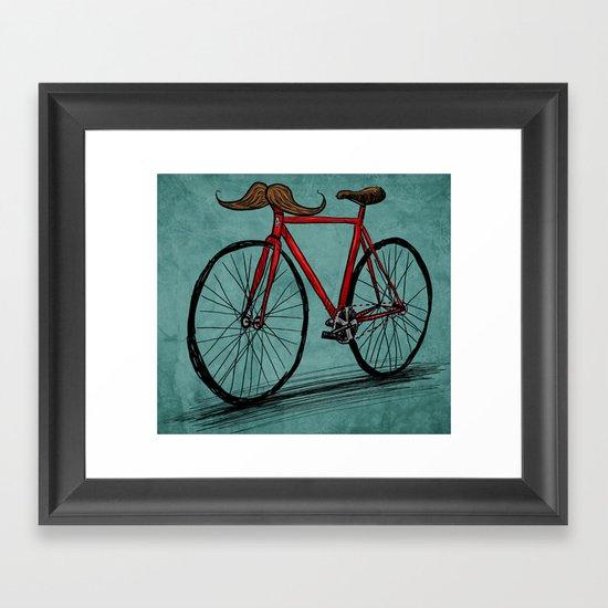 Baffi Bici Framed Art Print