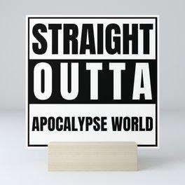 Straight Outta Apocalypse World Azazel Mary Never Born Michael Won Mini Art Print