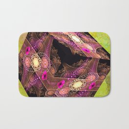 Abstract 136 cube with textures Bath Mat