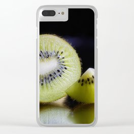Sliced Kiwi Fruit - Kitchen or Cafe Decor Clear iPhone Case