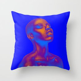 Colored Summer Throw Pillow