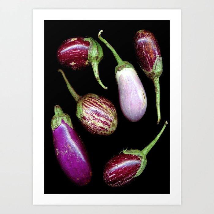 Aubergines Art Print
