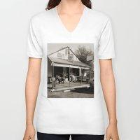 bar V-neck T-shirts featuring Milk Bar by SwanniePhotoArt