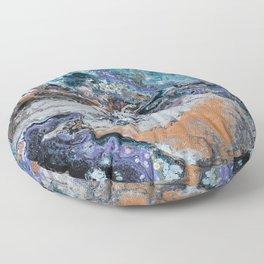 Molten Time (flow art on canvas) Floor Pillow