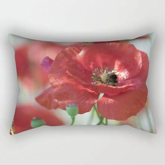 Red poppy Art Rectangular Pillow