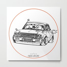 Crazy Car Art 0224 Metal Print