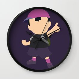 Ness(Smash)Purple Wall Clock