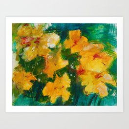 Party Pansies Art Print