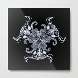 skulls mandala Metal Print