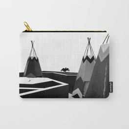 Cabins in BW Carry-All Pouch