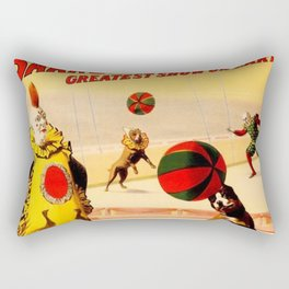 19th Century Barnum & Bailey Circus Marvelous Football Dogs Act Poster Rectangular Pillow