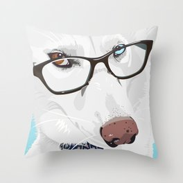 The Smartest Siberian Husky Throw Pillow