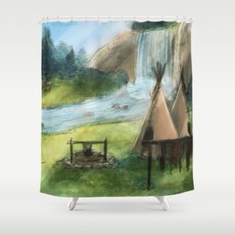 The Camp Shower Curtain