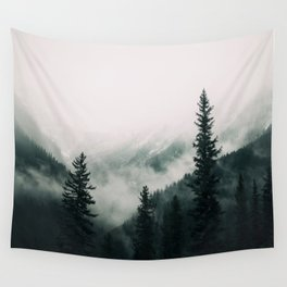 Over the Mountains and trough the Woods -  Forest Nature Photography Wall Tapestry