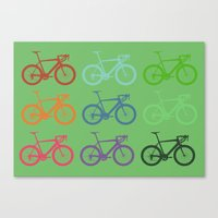 racing Canvas Prints featuring Racing bicycle by Fabian Bross