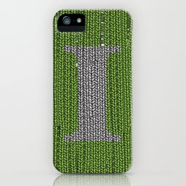 Winter clothes III. Letter i. iPhone Case