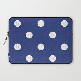 Baseball & Stars - Blue Laptop Sleeve