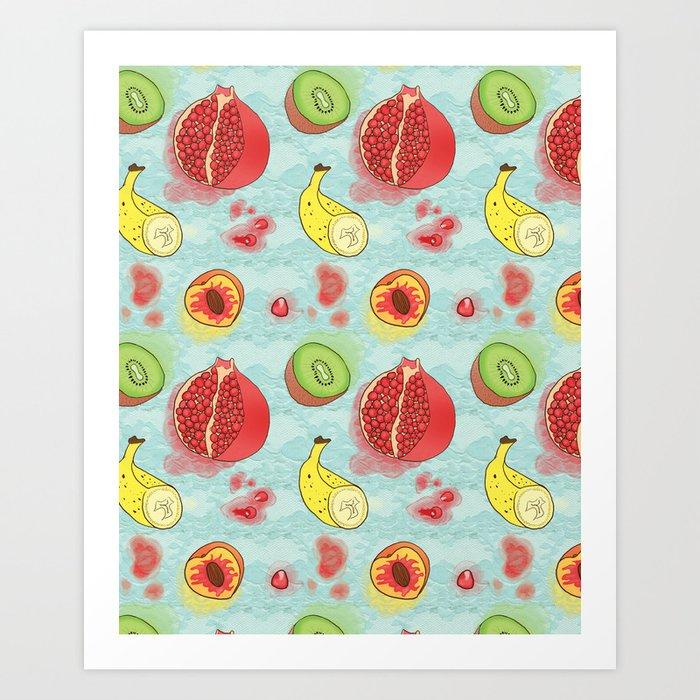 Fruit Cross-sections Art Print