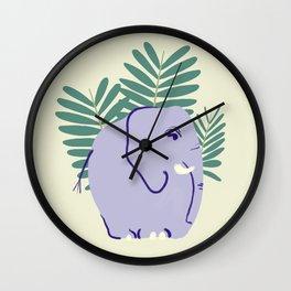 Fern Elephant Wall Clock