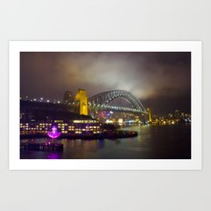 Vivid Bridge Art Print