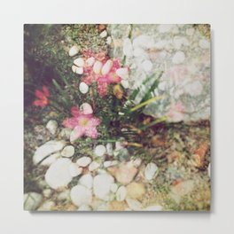 Analogue Love - Earth is a flower and it's pollinating.  Metal Print