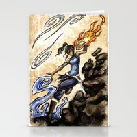 the legend of korra Stationery Cards featuring Korra by Surfinpika