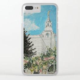 Boston Massachusetts LDS Temple Clear iPhone Case