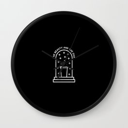 Beauty and the chai Wall Clock