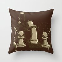 revolution Throw Pillows featuring Revolution! by sergio37