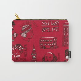 English pattern Carry-All Pouch