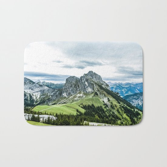 Mountain and Valley  Bath Mat