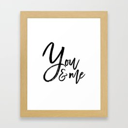 you and me embroidery wedding embroidery design ampersand applique Framed Art Print