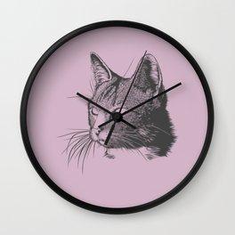 The Cat Sketch Wall Clock