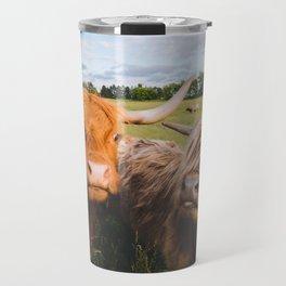Highland Cows - Blep Travel Mug