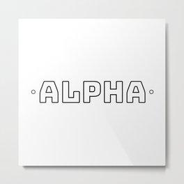 Alpha (Black on White) Metal Print