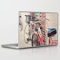 bicycles Laptop & iPad Skins featuring Bicycles by Yolanda Méndez