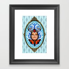 Cicada queen Framed Art Print