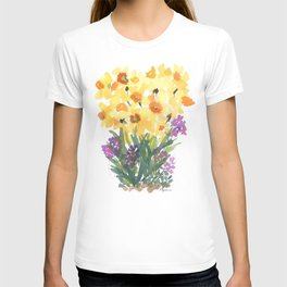 Spring Daffodil Patch T-shirt