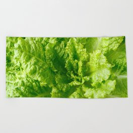 Lettuce closeup Beach Towel
