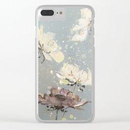Flowertalk Clear iPhone Case