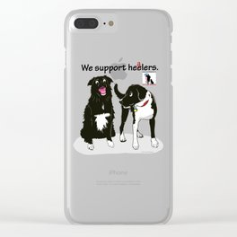 We Support Healers Clear iPhone Case