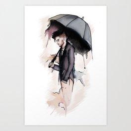 Rainy Watercolor Zayn Art Print
