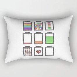 8 bits Battery Rectangular Pillow