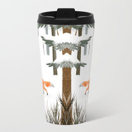Fox In A Late Winter Snowfall Travel Mug