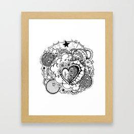 Affirmation Doodle  Framed Art Print