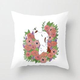 Marti Flower Throw Pillow