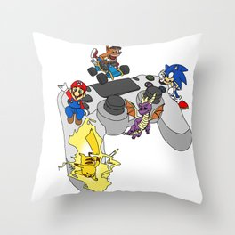 Gamer Life, give me the controller! Throw Pillow